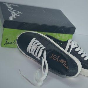 Sam Edelman Shoes - Sam Edelman Raina Lace-up Black Leather Sneaker